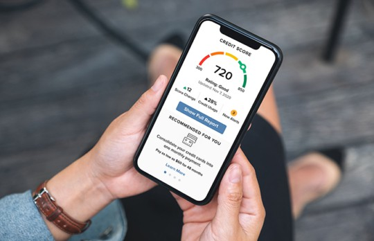 Mobile view of Credit Score and More