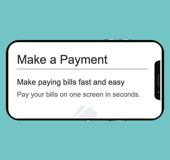 screen shot of make a payment